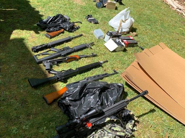 Firearms located during a search warrant