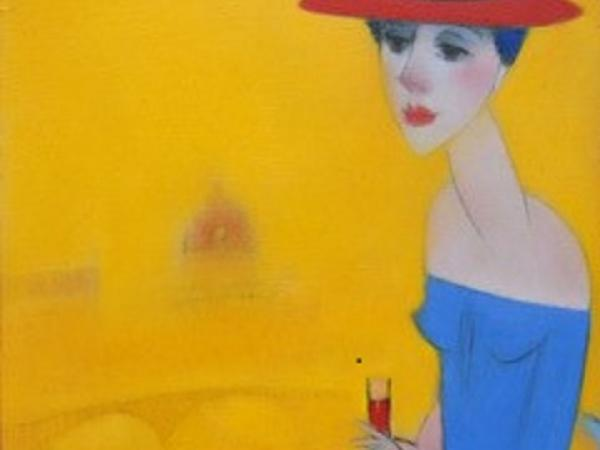 Lady with red hat