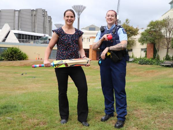 Charne Nel (left) and Constable Wheturangi Campbell