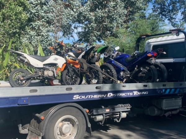 Five bikes were impounded following an incident at Musick Point