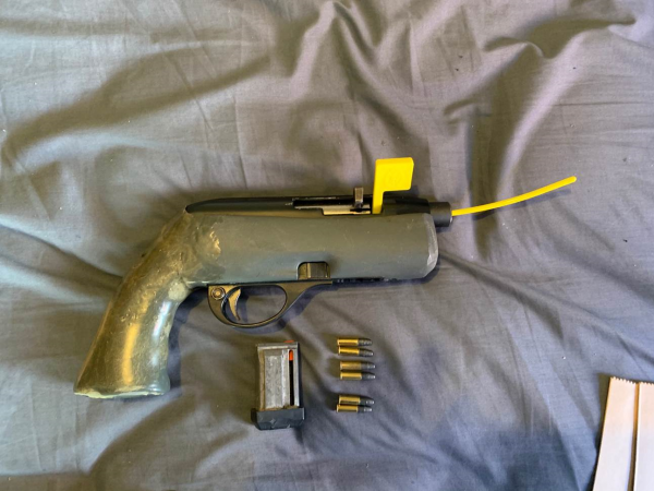 A firearm recovered during a Ngaruawahia search warrant.