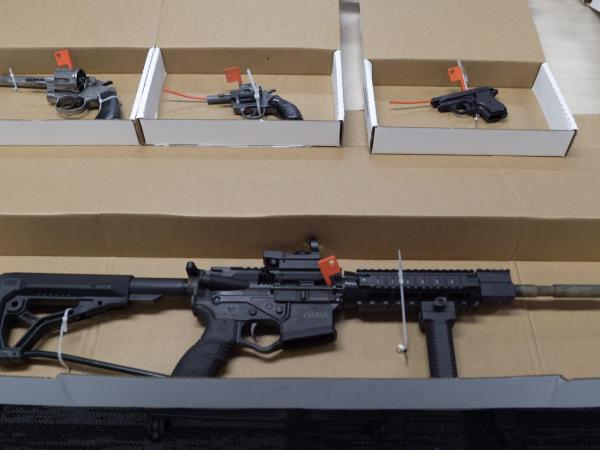 Some of the firearms seized