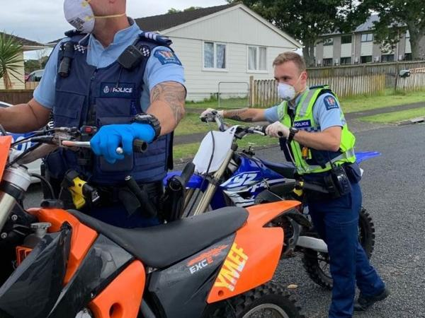 Police impound dirt bikes in Mangere last week