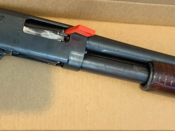 A shotgun was located during search warrants today