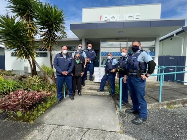 Some of the team at Dargaville Police Station