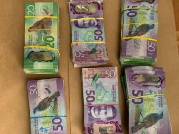 Cash seized as a result of today's operation termination in Wairoa
