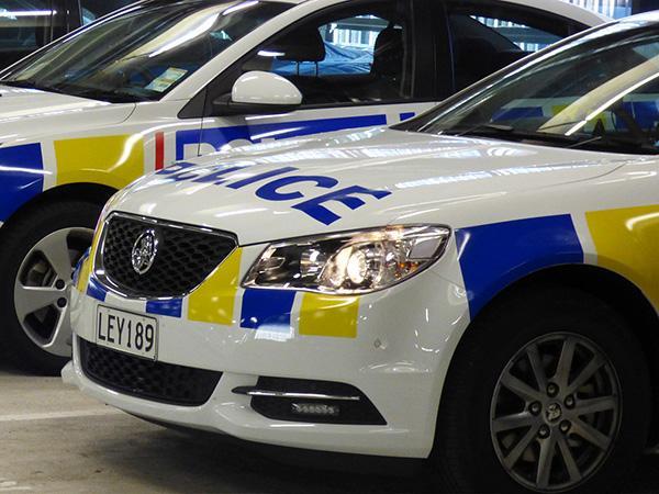 Police car in garage 1