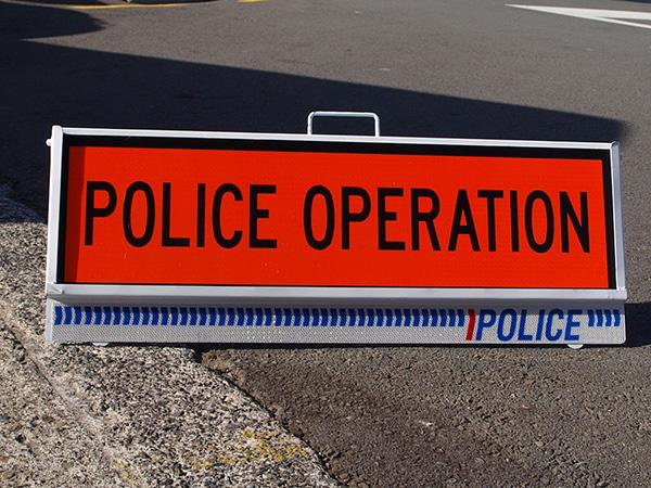 Police operation sign
