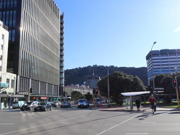 Bunny Street, Wellington, where the teenager flagged down Constable Clarke Nepia's car.