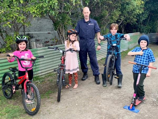Jason page and bike kids