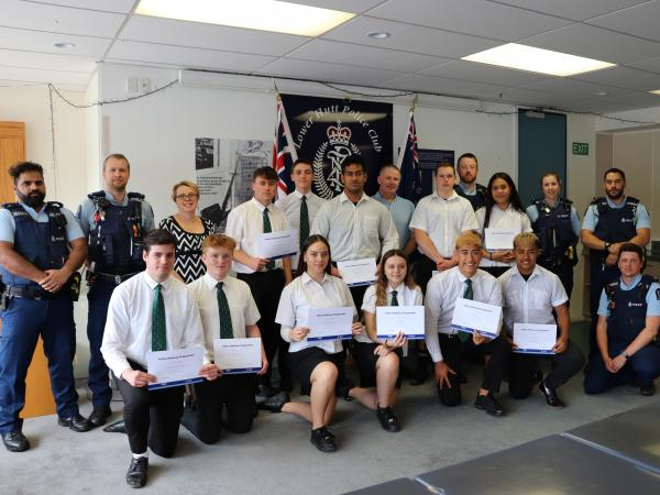 This is the first year Wainuiomata High School has participated in the Police Pathways Programme.