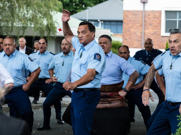 A rousing haka was performed after the funeral.
