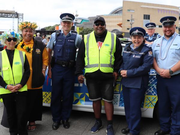 Police and Pasifika Patrollers.