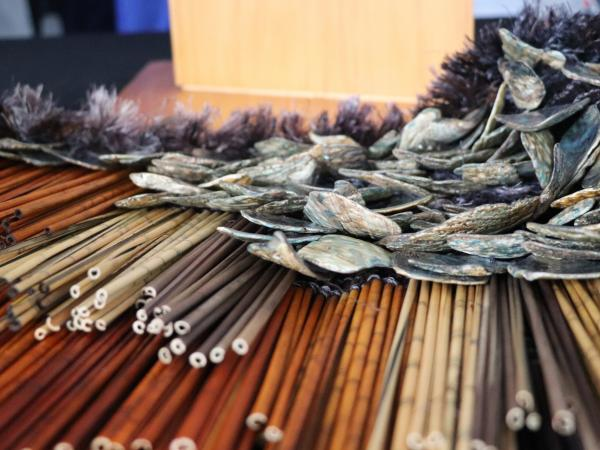 The korowai used to cover the plaque was woven, and gifted to Police, by Prosecutions Support Officer Claire Weaver.