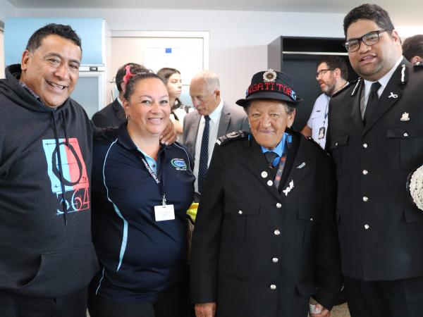 Māori Wardens and community patrollers participated in the celebrations