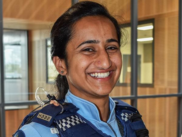 Constable Ramandeep Kaur Sandhu, Hawke's Bay's first Indian-born female police officer.