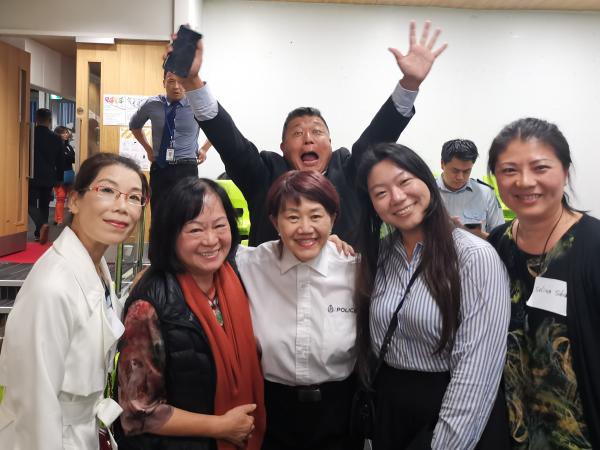 Jessica Phuang (centre) with some of the community leaders who attended