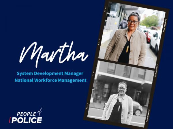 People of Police graphic for Martha Samasoni