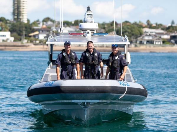 Wellington Maritime Unit Senior Sergeant Dave Houston and Constables Ian McCallum and Kyle Smith pleased to be part of the team