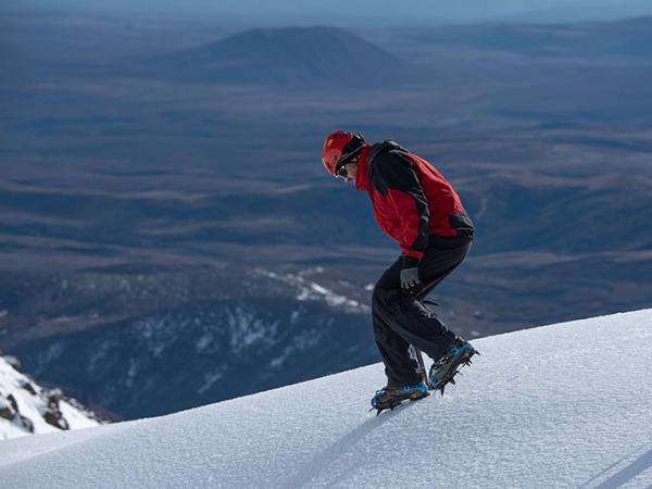 Descending a slope.
