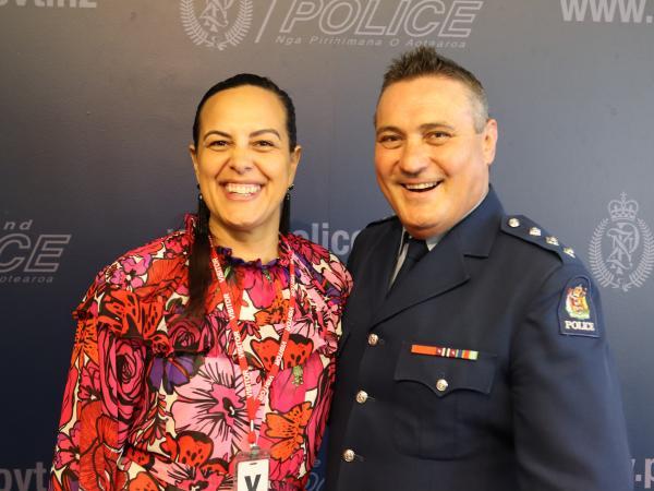 Tui Keenan and Inspector Sam Aberahama.