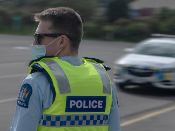 Recruit training with mask-wearing recruits at the RNZPC. Photo: Senior Constable Mark Chive