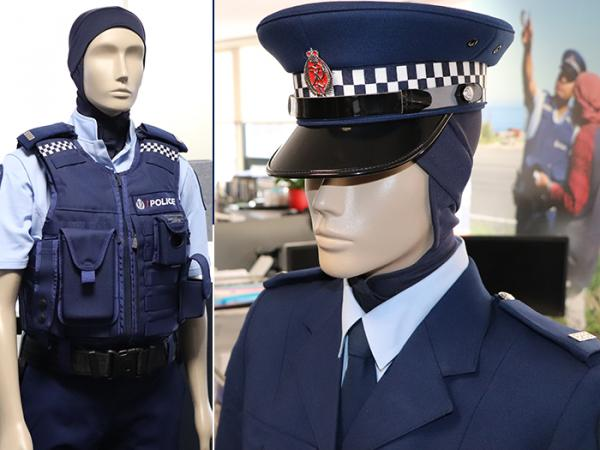 A mannequin models some of the fabrics during the design phase at Police National Headquarters.