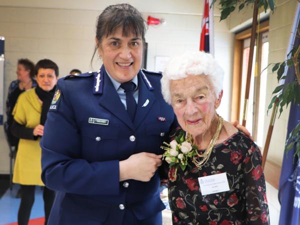 Marie with Deputy Commissioner Tania Kura.
