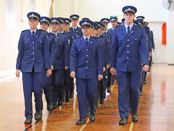 Wing 346 marching on to their graduation parade.