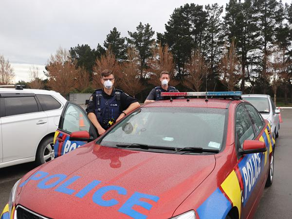 Constables Justin Bateup and Carl Stewart from the Canterbury ASR squad.