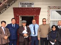 Indonesian delegation at marae.