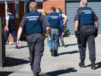 Police execute a search warrant