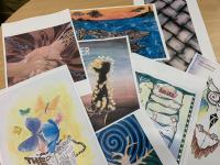 Some of the final entries in the Wellington District art competition