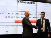 Mr Steven Wilson, head of cybercrime for Europol (left) and Detective Superintendent Iain Chapman, Acting National Crime Manager