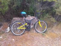 This bike was found at the start of the walking track and Police are concerned for its owner's welfare