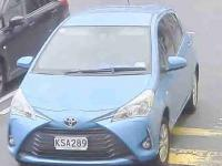 Police are asking for anyone who has information on this blue 2017 Toyota Yaris – registration KSA289.