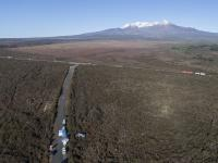 Aerial view of Rangipo Intake Road during last week's Police search