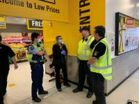 Dunedin AVSEC and Police staff on reassurance checks in Southern District
