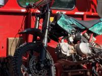 Seized dirt bike