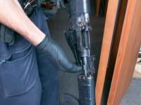 One of the firearms recovered by Police during the search warrant.