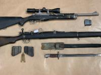 Firearms and other weapons recovered during the search warrants