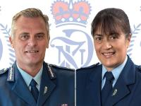 Deputy Commissioner Glenn Dunbier and Eastern District Commander Superintendent Tania Kura