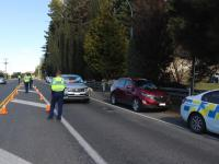 A Police checkpoint in Bayview