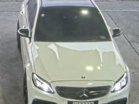 Police are seeking sightings of this white Mercedes C-63 Saloon – registration NGQ689