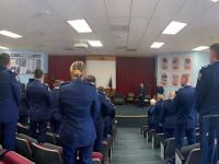 Wing 347 at their attestation ceremony yesterday