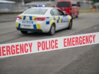 Police Emergency tape with car - 3