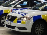 Police car in garage 1