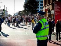 Policing crowd