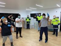 Iwi and Police staff have delivered thousands of food boxes to people in need of support.