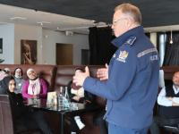 Southern District Commander Paul Basham welcomes the group to Queenstown.